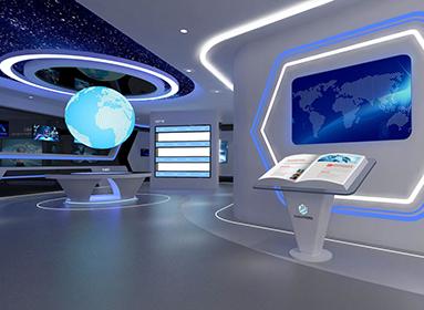 华贝电子科技企业展厅设计
